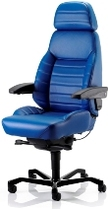 KAB Executive leather 24 hour control room chair