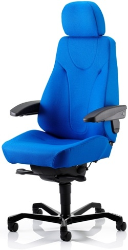 KAB Director fabric 24 hour control room chair