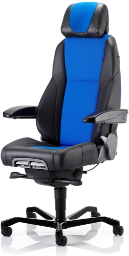 KAB K4 Premium Controller half leather 24 hour control room chair