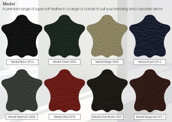 Leather colour chart